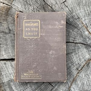 Old William Shakespeare As You Like It Book